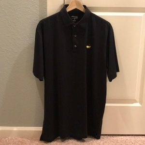 Official Masters Tech Polo Black Medium